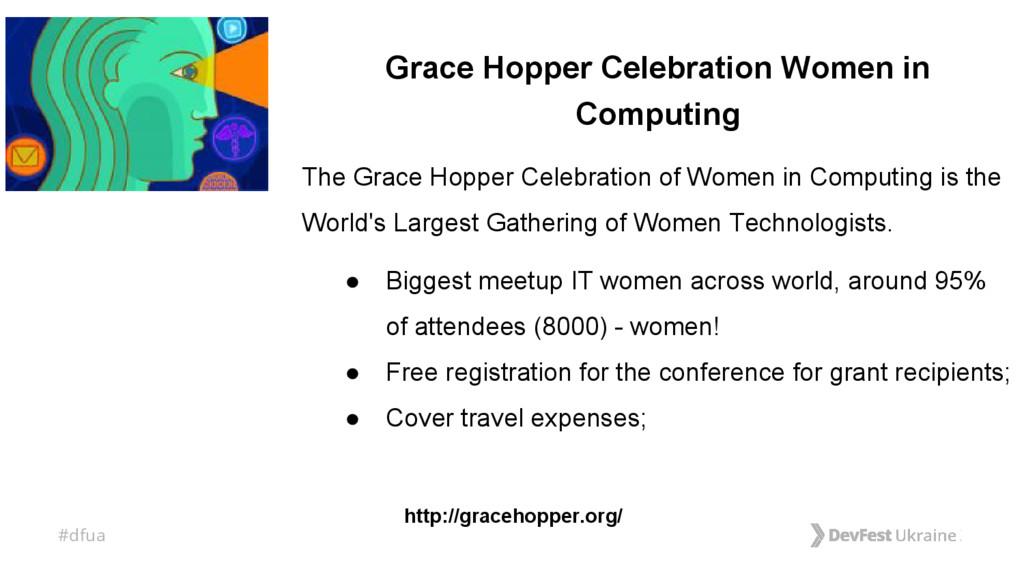 #dfua Grace Hopper Celebration Women in Computi...