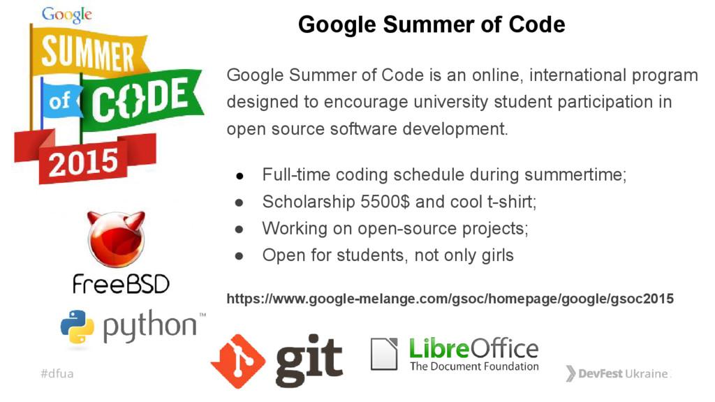 #dfua Google Summer of Code Google Summer of Co...