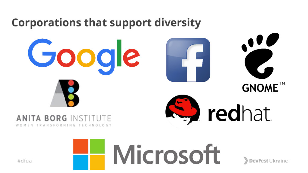 #dfua Corporations that support diversity