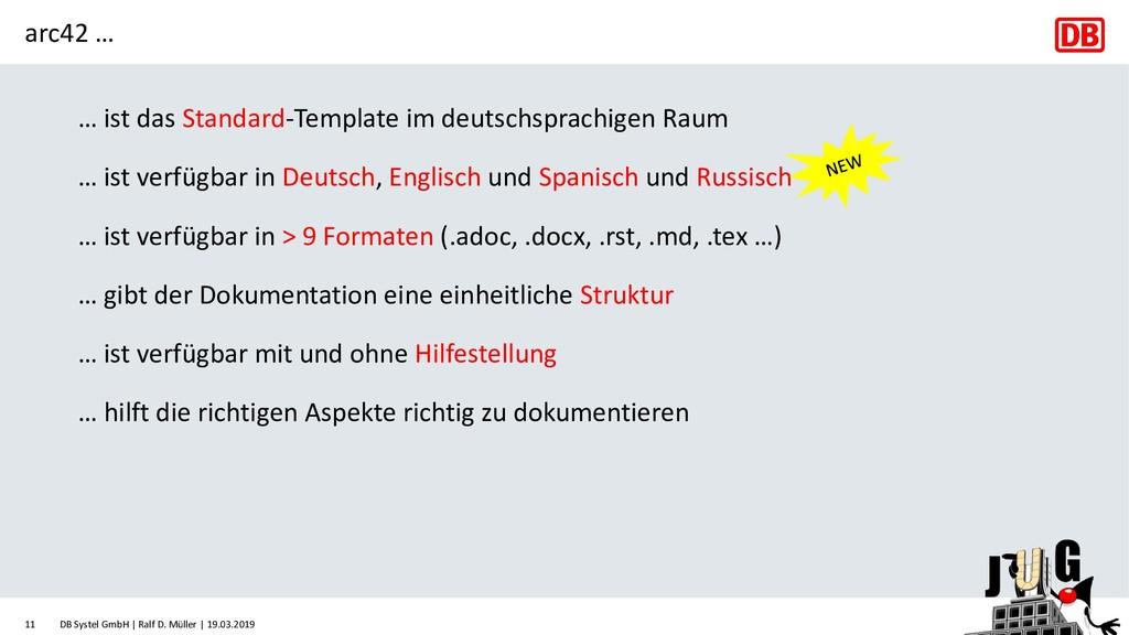 arc42 … … ist das Standard-Template im deutschs...