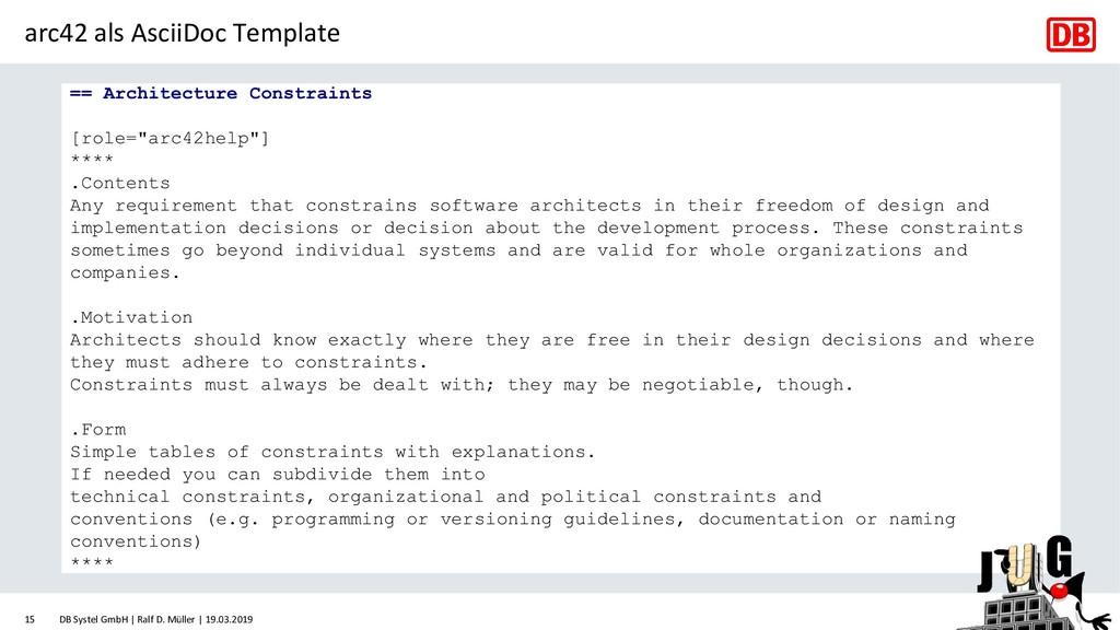 arc42 als AsciiDoc Template == Architecture Con...