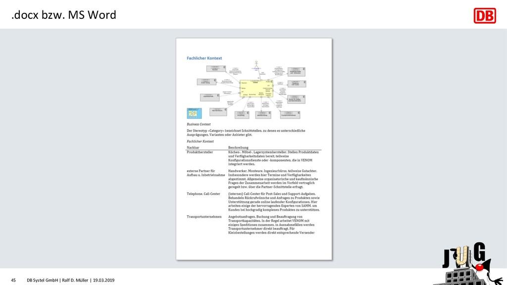 .docx bzw. MS Word DB Systel GmbH | Ralf D. Mül...
