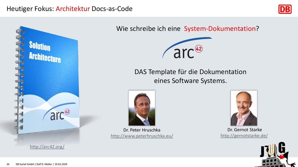 Heutiger Fokus: Architektur Docs-as-Code Wie sc...
