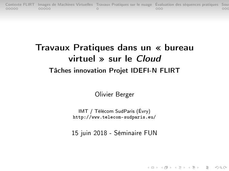 Contexte FLIRT Images de Machines Virtuelles Tr...