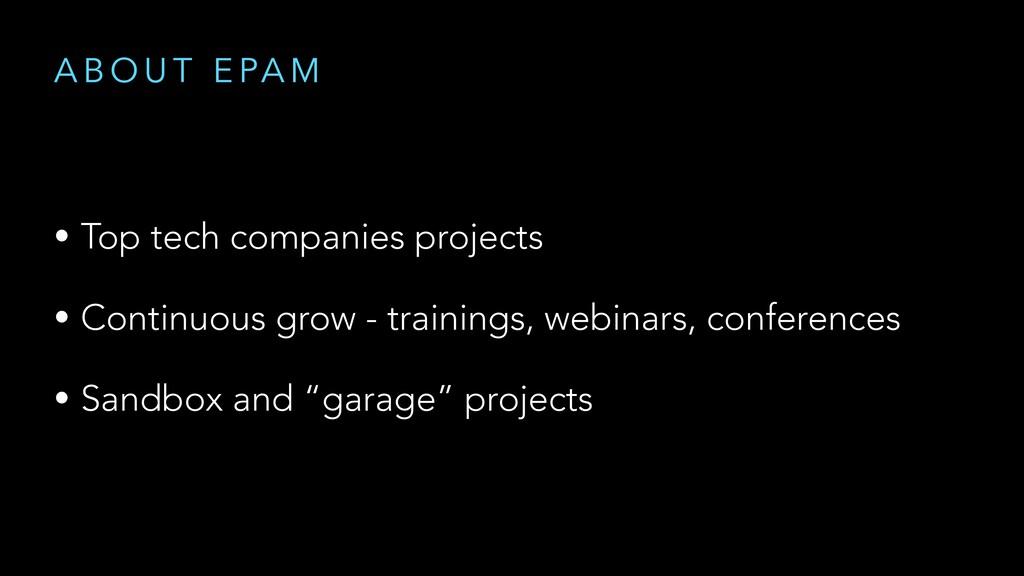 A B O U T E PA M • Top tech companies projects ...