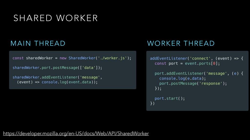 SHARED WORKER https://developer.mozilla.org/en-...