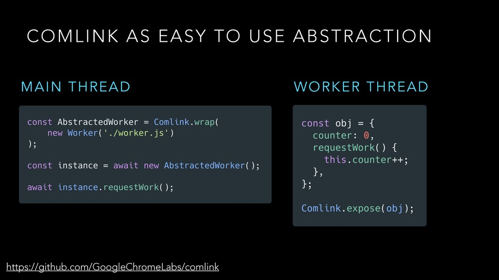 COMLINK AS EASY TO USE ABSTRACTION https://gith...