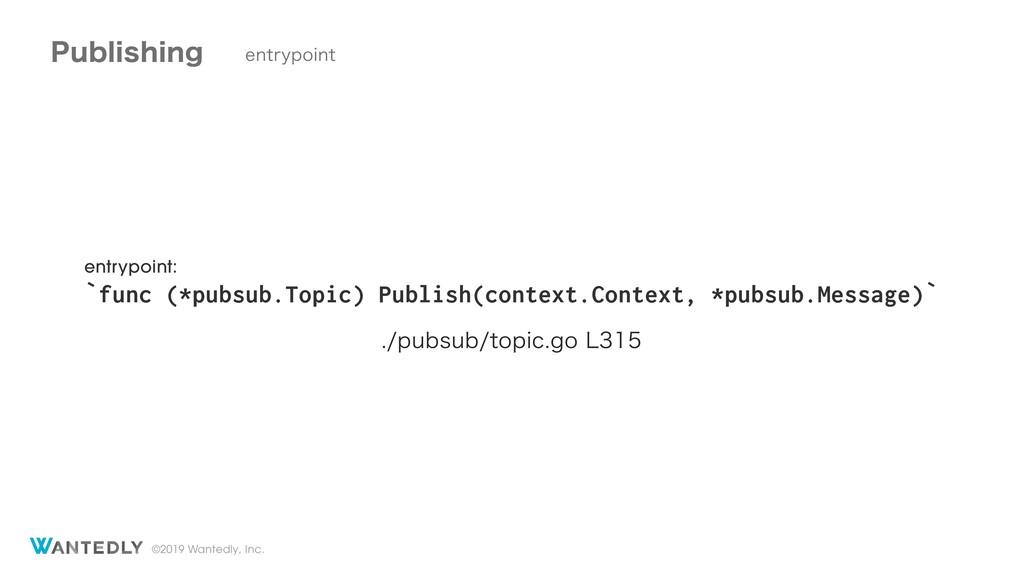 ©2019 Wantedly, Inc. entrypoint: `func (*pubsub...