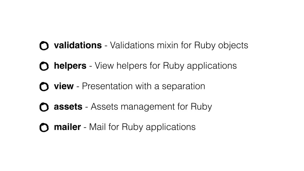 validations - Validations mixin for Ruby object...