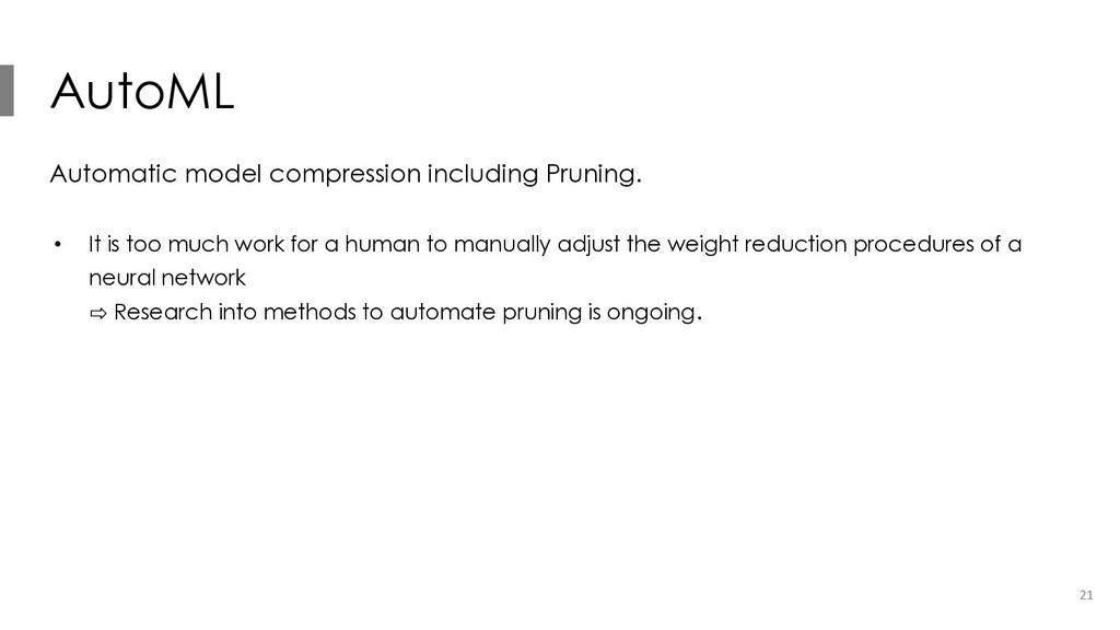AutoML Automatic model compression including Pr...