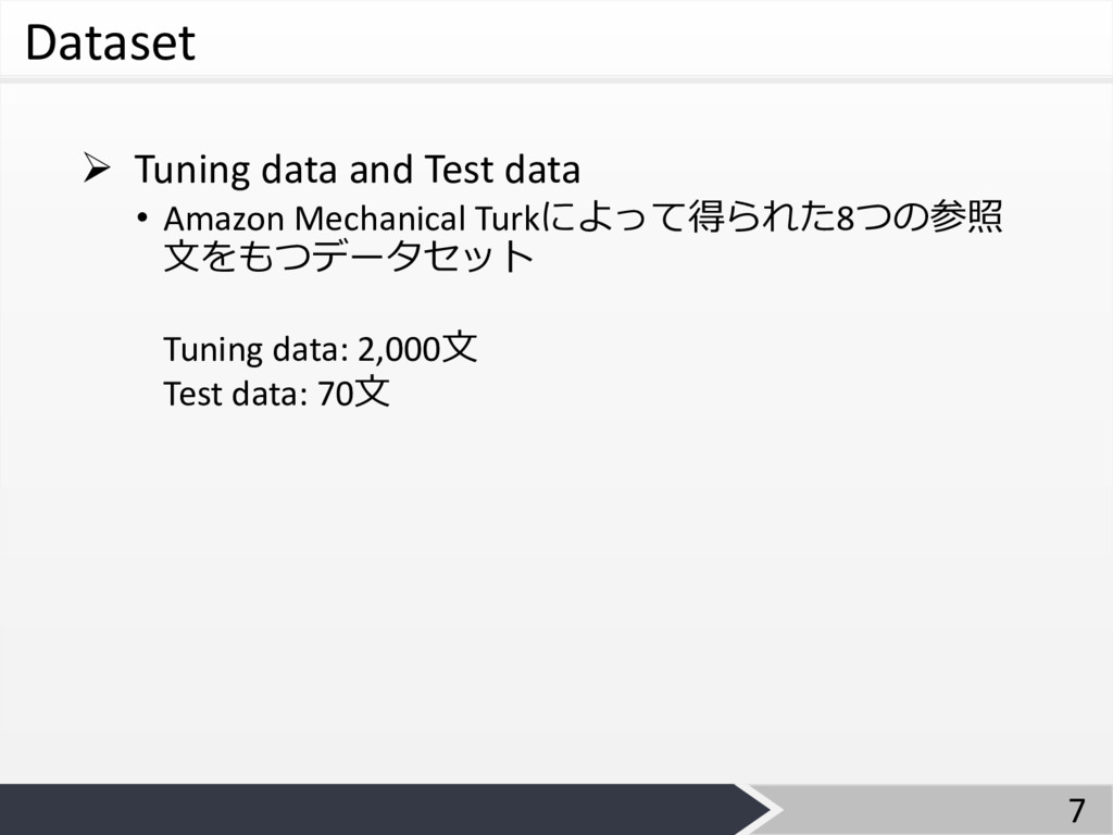 Dataset Ø Tuning data and Test data • Amazon Me...