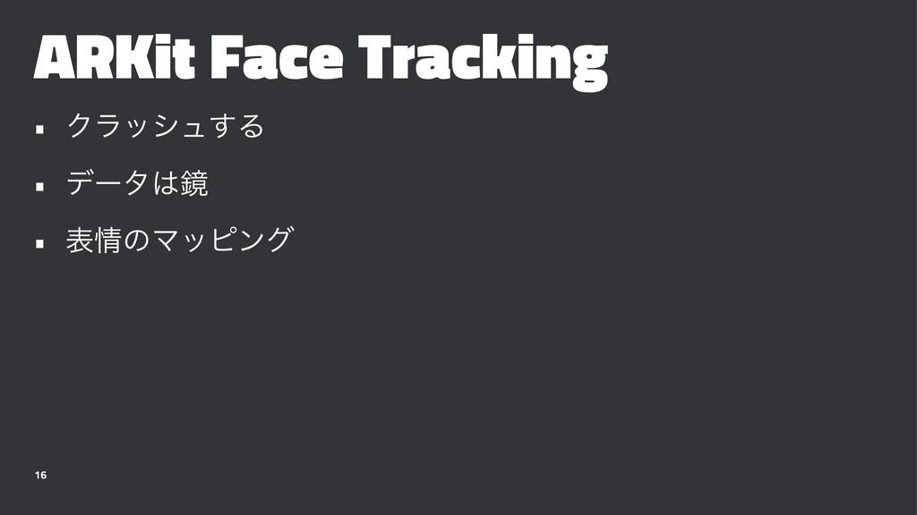 ARKit Face Tracking • Ϋϥογϡ͢Δ • σʔλڸ • දͷϚοϐϯ...