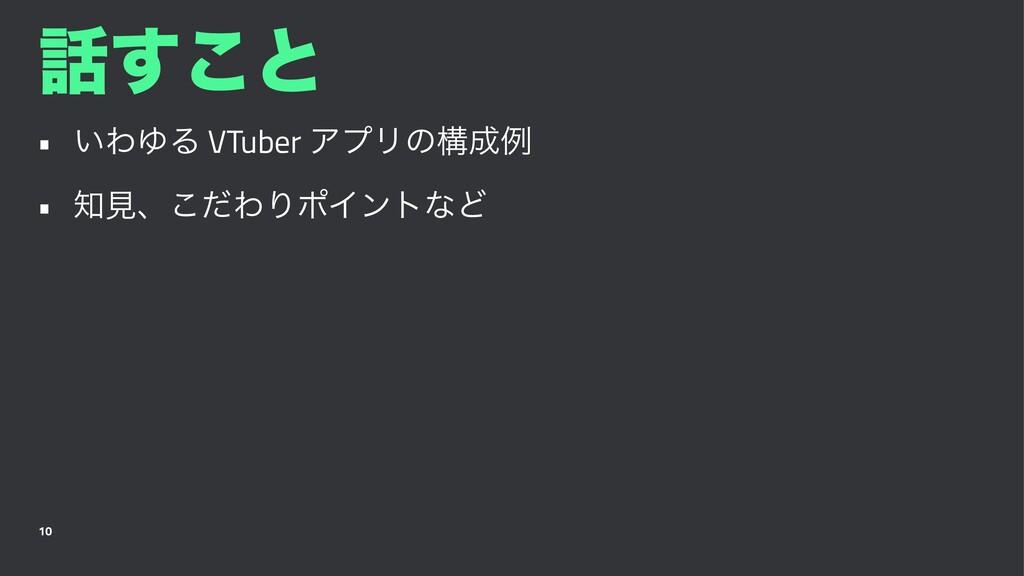 ͢͜ͱ • ͍ΘΏΔ VTuber ΞϓϦͷߏྫ • ݟɺͩ͜ΘΓϙΠϯτͳͲ 10
