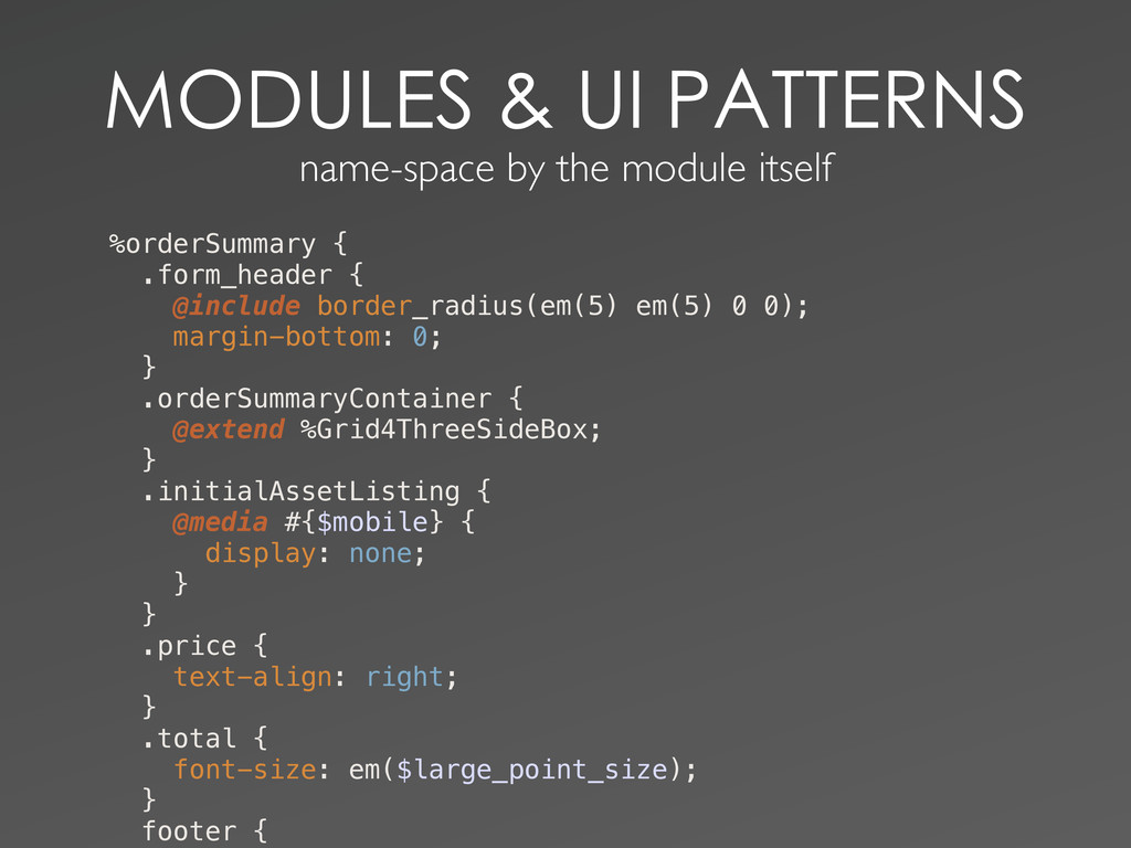 name-space by the module ...