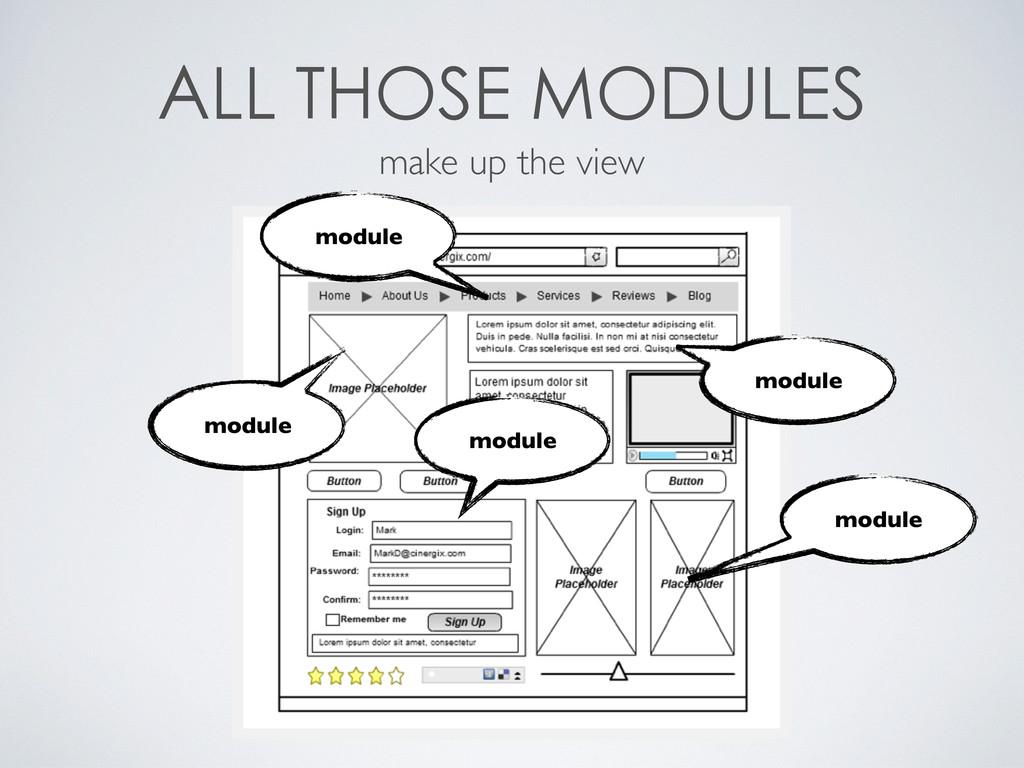 make up the view module modul...