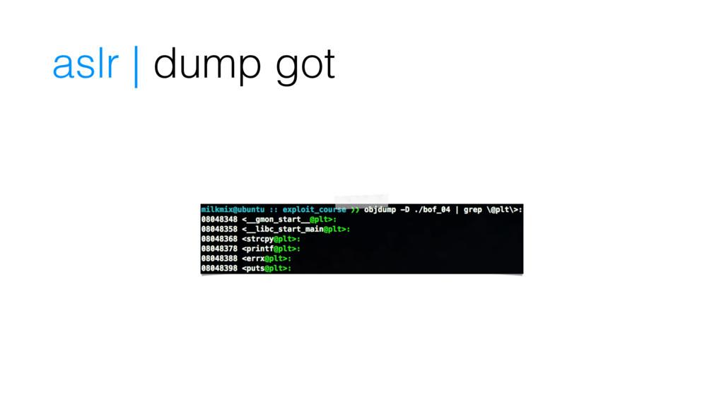 aslr | dump got