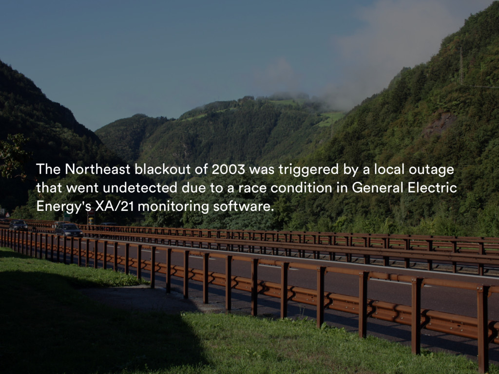 The Northeast blackout of 2003 was triggered by...