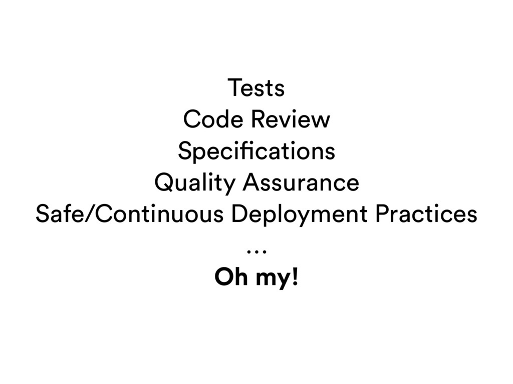 Tests Code Review Specifications Quality Assura...