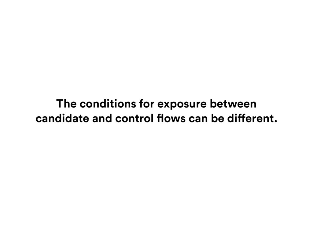 The conditions for exposure between candidate a...