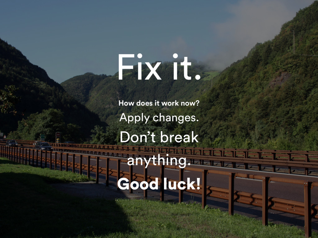 Fix it. How does it work now? Apply changes. Do...