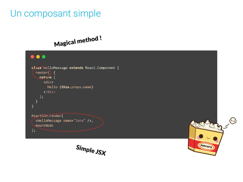 Un composant simple