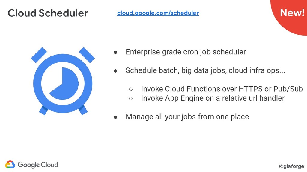 @glaforge Cloud Scheduler ● Enterprise grade cr...