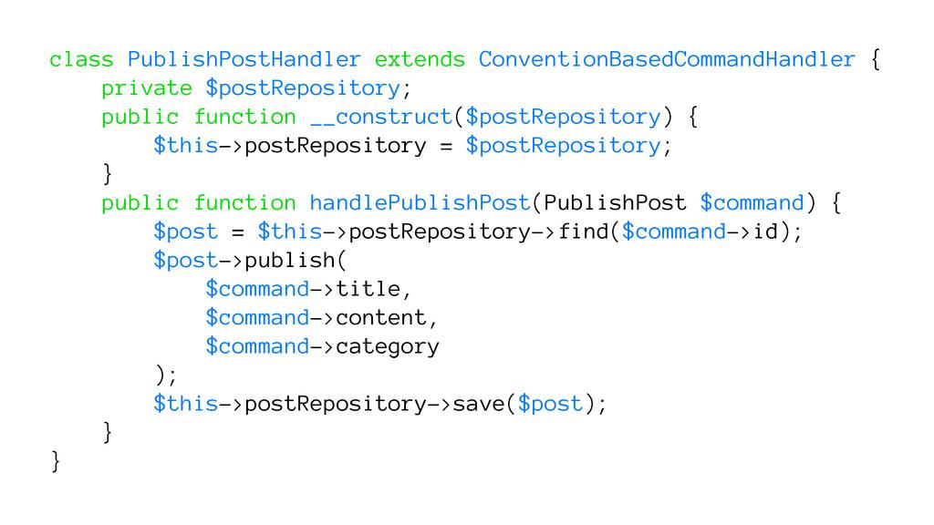 class PublishPostHandler extends ConventionBase...