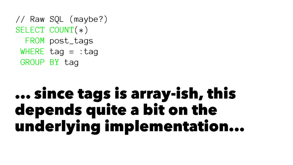// Raw SQL (maybe?) SELECT COUNT(*) FROM post_t...
