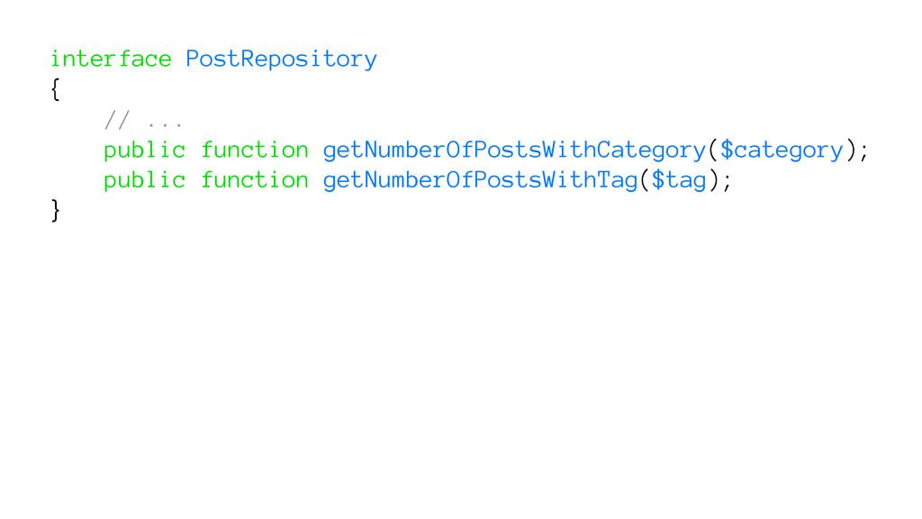 interface PostRepository { // ... public functi...