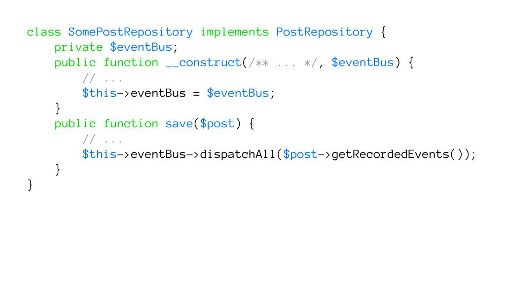 class SomePostRepository implements PostReposit...