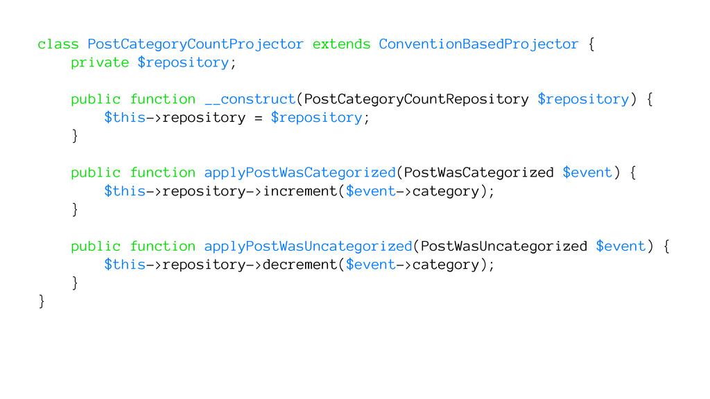 class PostCategoryCountProjector extends Conven...