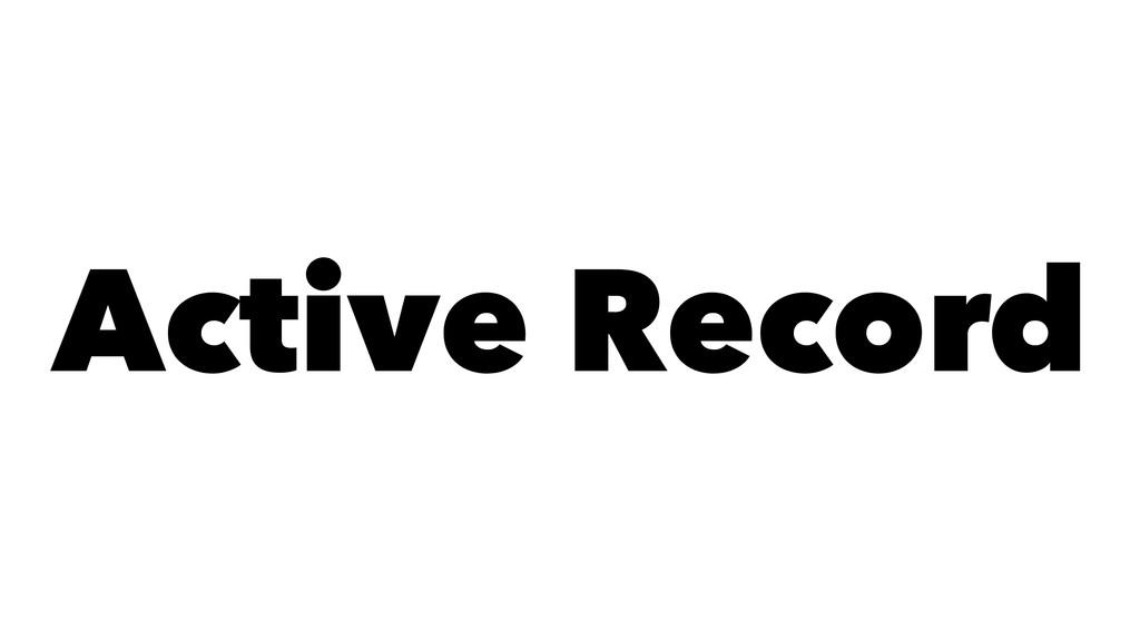 Active Record