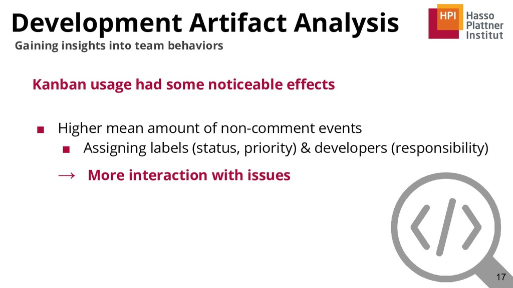 Development Artifact Analysis Kanban usage had ...