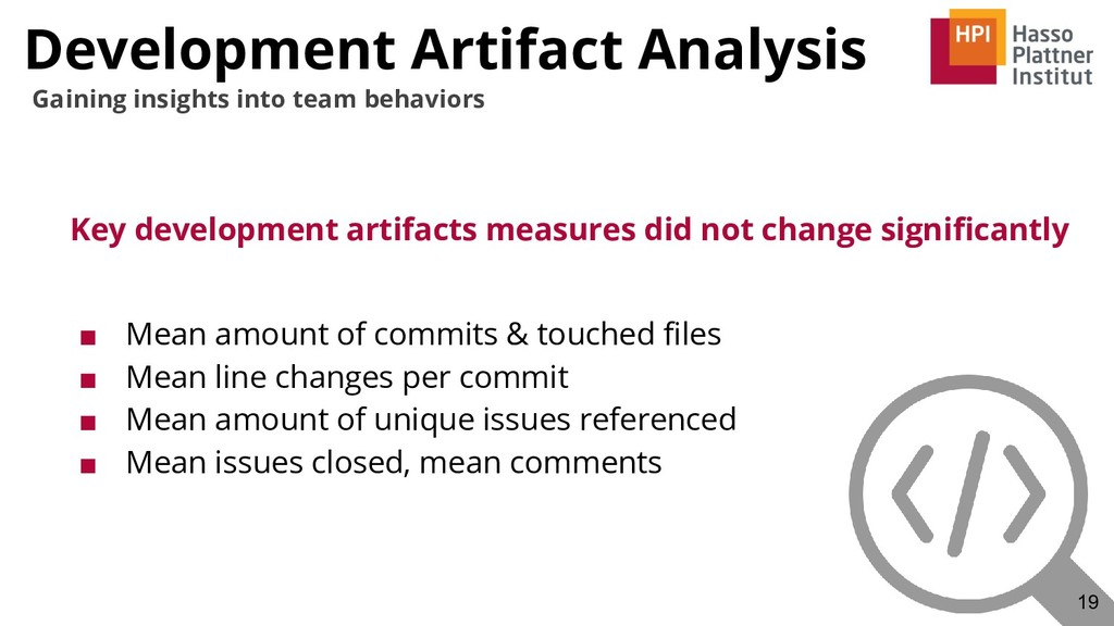 Development Artifact Analysis Key development a...