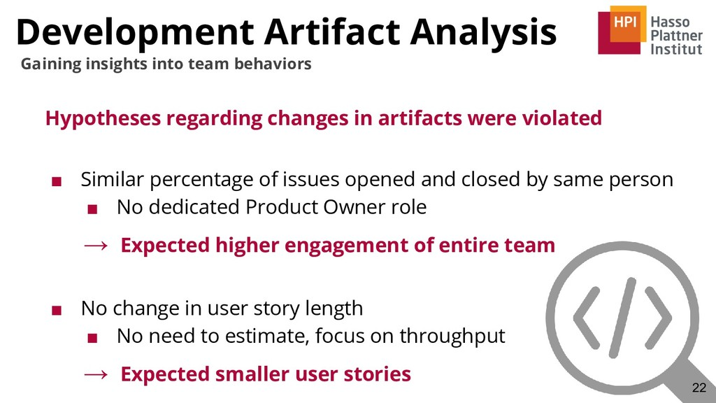 Development Artifact Analysis Hypotheses regard...