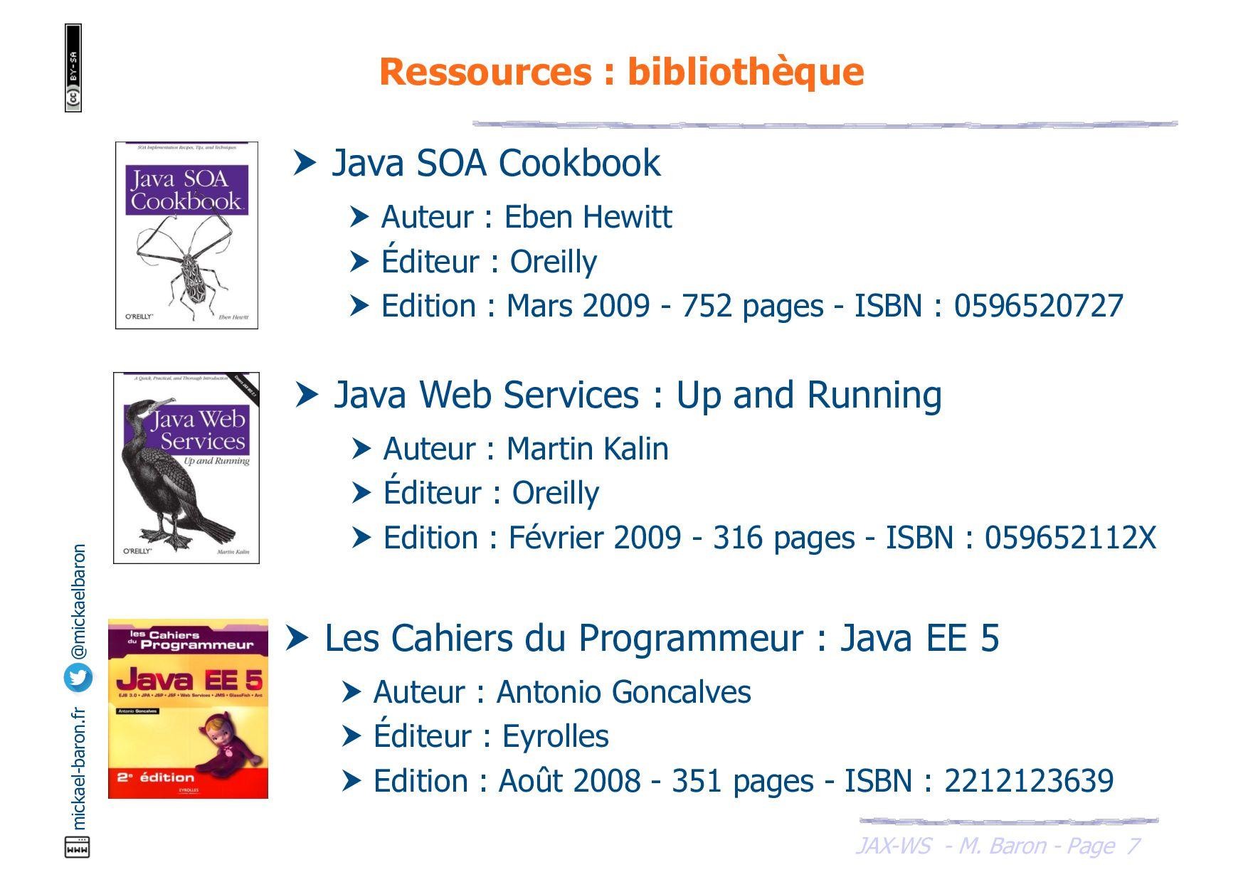JAX-WS - M. Baron - Page mickael-baron.fr @mick...