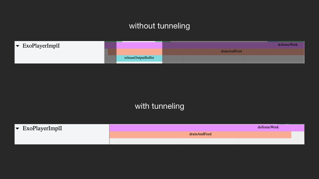 with tunneling without tunneling