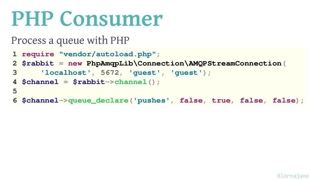 PHP Consumer Process a queue with PHP 1 require...