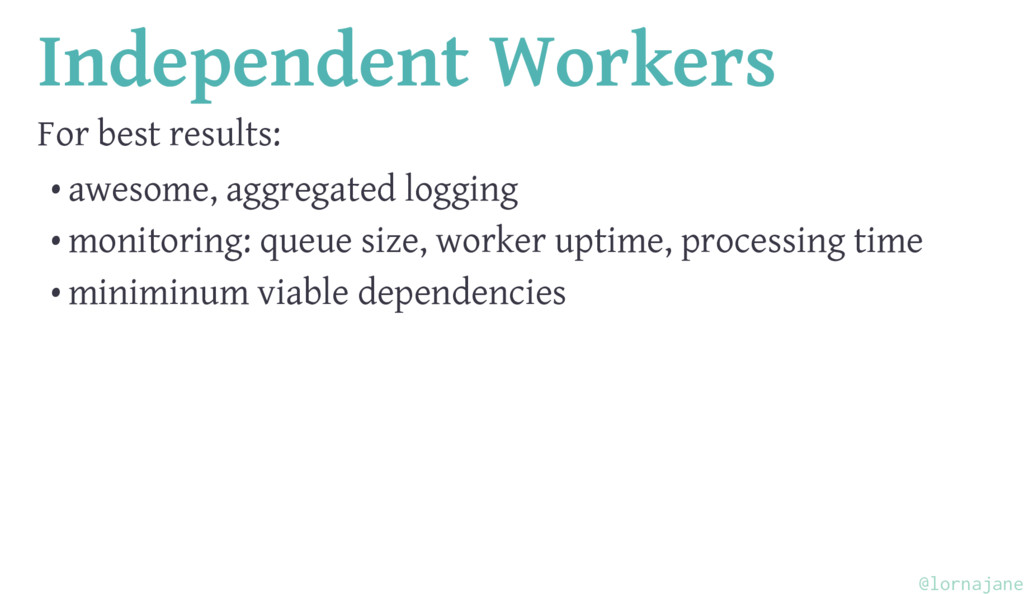 Independent Workers For best results: • awesome...