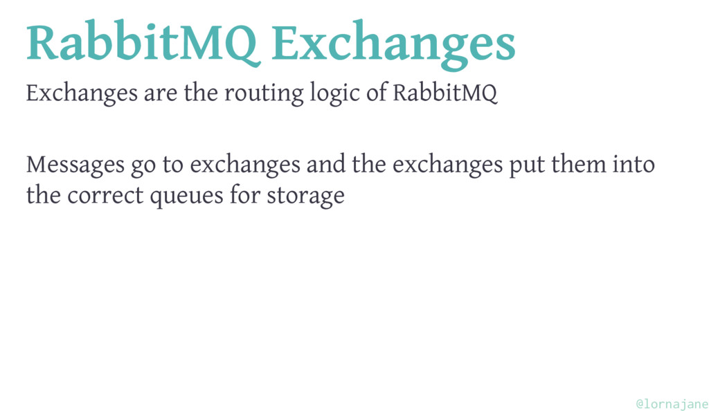 RabbitMQ Exchanges Exchanges are the routing lo...