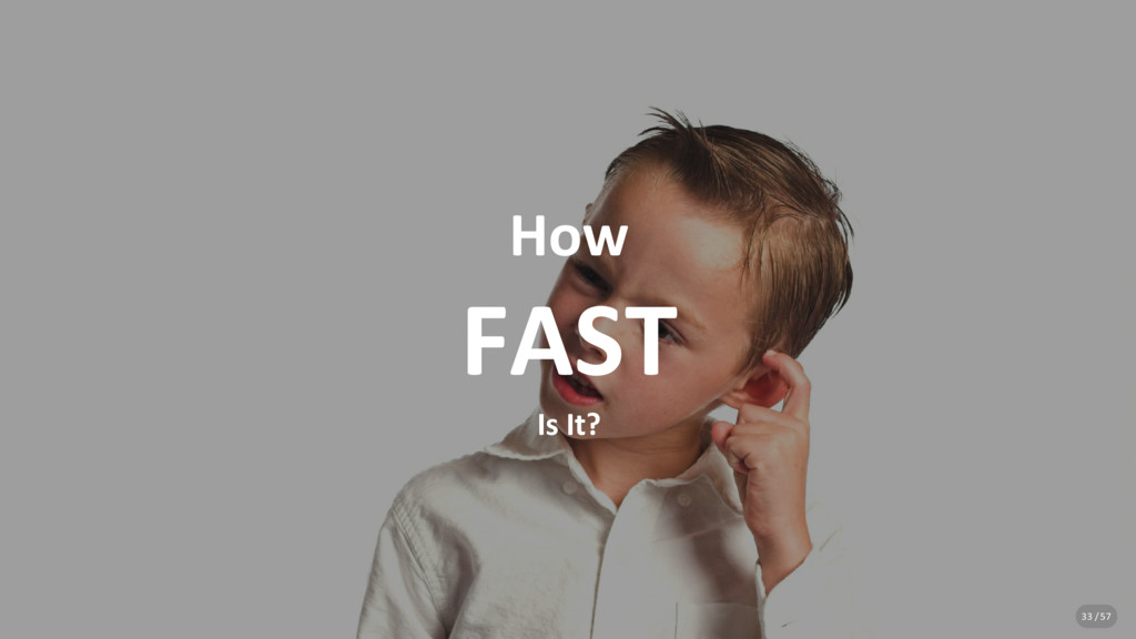 How FAST Is It? 33 / 57