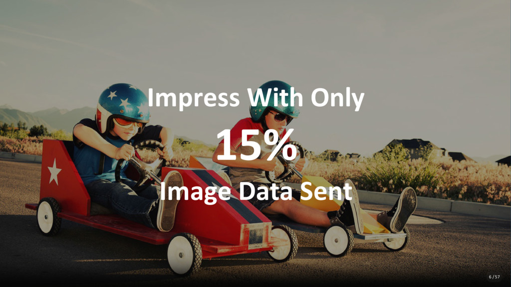Impress With Only 15% Image Data Sent 6 / 57