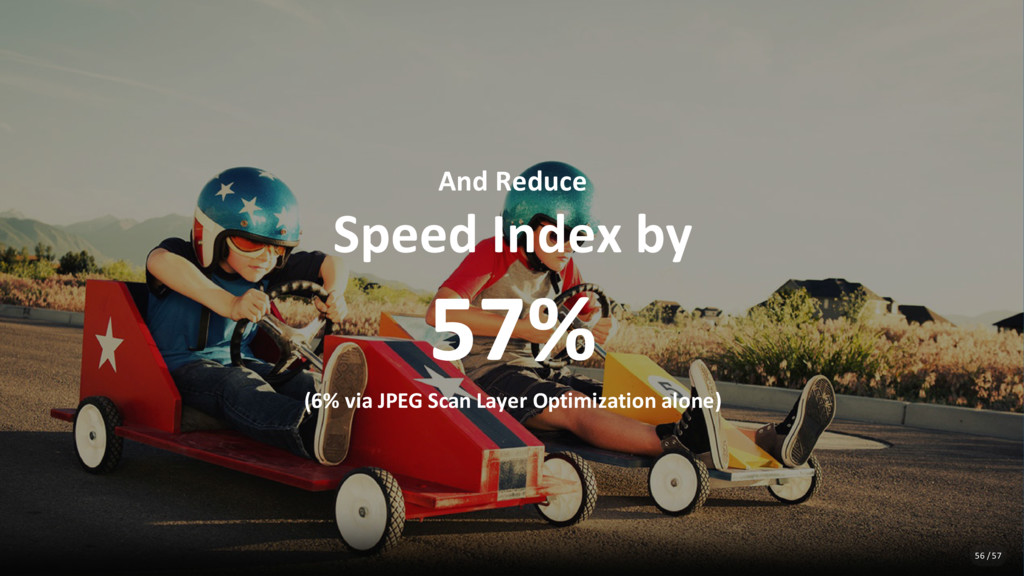 And Reduce Speed Index by 57% (6% via JPEG Scan...
