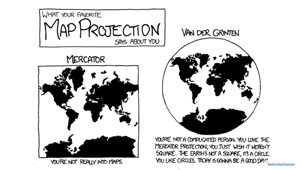 Xkcdon Map Projections