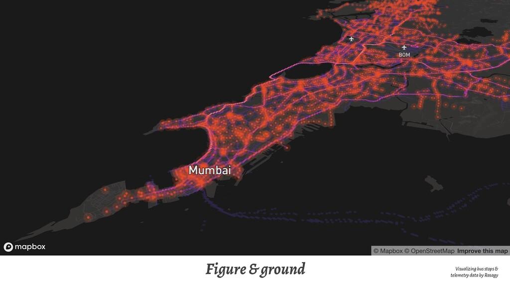 Figure & ground Visualizing bus stops & telemet...