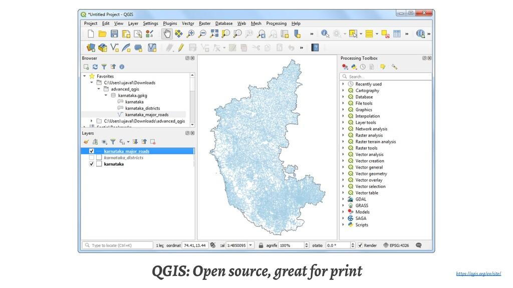 QGIS: Open source, great for print https://qgis...