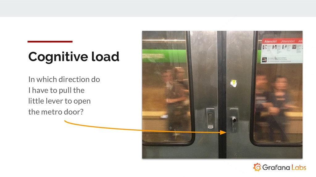 Cognitive load In which direction do I have to ...