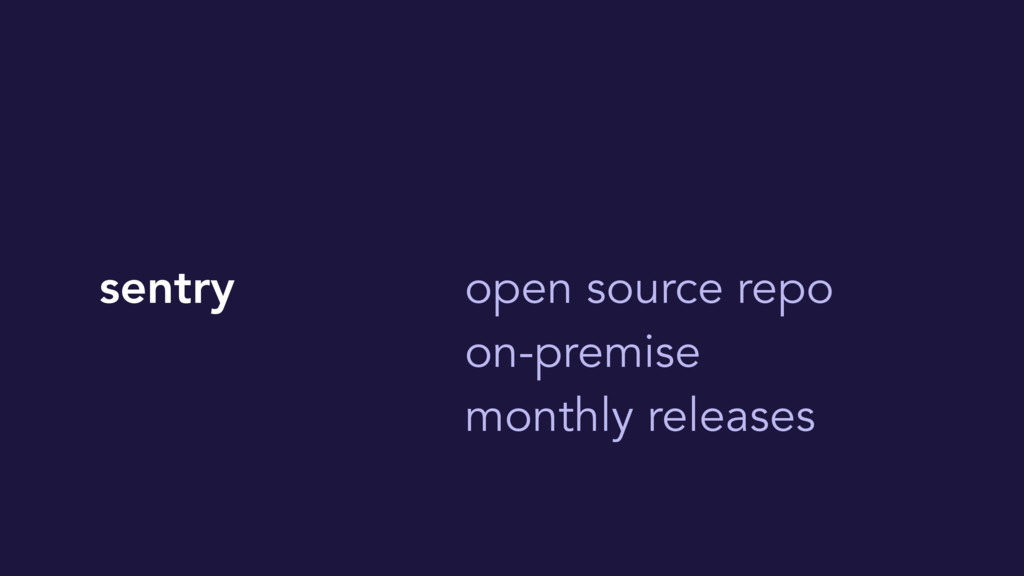 sentry open source repo on-premise monthly rele...