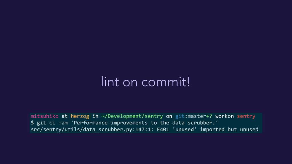 lint on commit!