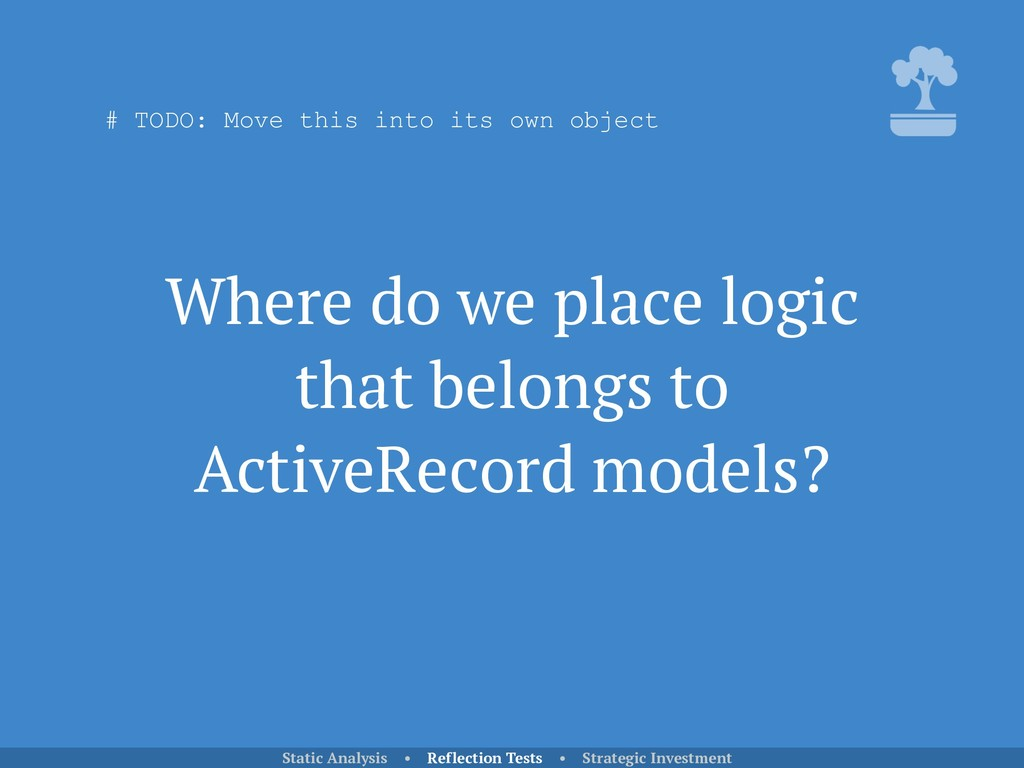 Where do we place logic that belongs to ActiveR...